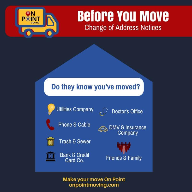 Moving Checklist - Change of Address