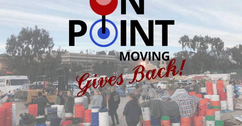 On Point Moving Gives Back - San Diego Moving Company