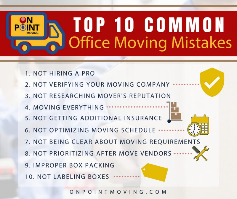 top office moving mistakes