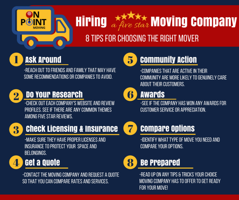 8 Tips for Hiring a Five Star Moving Company